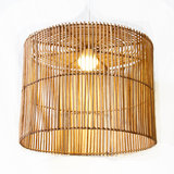 Rieten ronde hanglamp