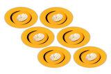 6 pack goud inbouwspot