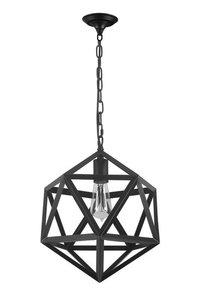 Industrieel Metalen Polyhedron Hanglamp Zwart