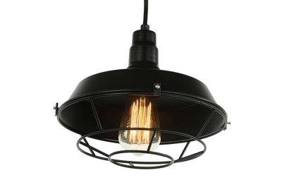 Industriële Kooi Design Hanglamp Zwart