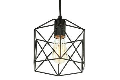 Diamond Star Industrieel Draad Design Hanglamp Zwart