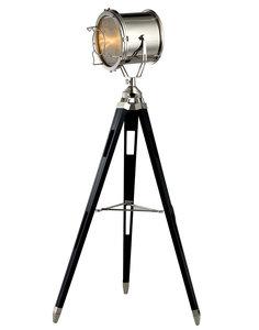 Maritieme Luxe Industrieel Design Tripod Vloerlamp Chroom Zwart