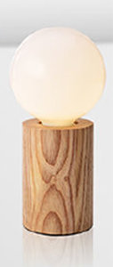 Houten Tafellamp, E27 Fitting, Essenhout