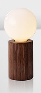 Houten Tafellamp, E27 Fitting, Walnoothout