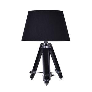 Rouen Industriele Design Tafellamp Van Hout Zwart