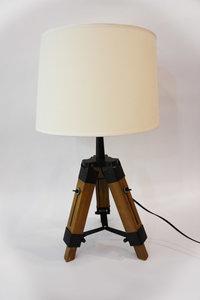 Albi Industriele Design Tafellamp Van Hout