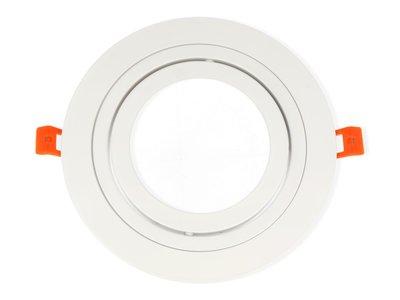 Inbouwspot Aluminium, Rond, Kantelbaar, AR111, Mat Wit
