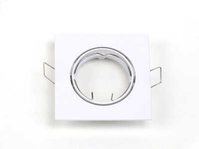 Inbouwspot Aluminium Wit, Vierkant, Kantelbaar