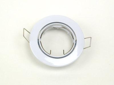 Inbouwspot Aluminium Wit, Rond, Kantelbaar