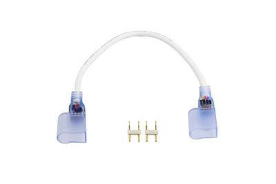 LED Neon Enkelkleurig Connector, 2-Aderig, Soldeervrij, 1 Meter