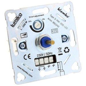 Klemko LED Dimmer 230V, fase afsnijding, 1W-200W