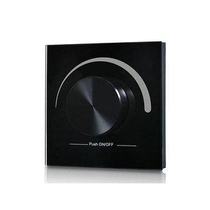 LED RF Enkelkleurige Dimmer, Wand, Draadloos, Zwart, Pro