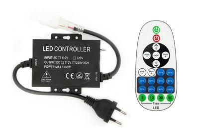 LED Neon Flex Enkelkleurig Controller Met Dimfunctie Aansluitstekker