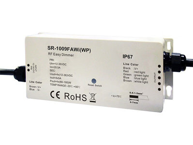 LED RGBW Wifi Controller 12-36V Waterdicht IP67 Pro