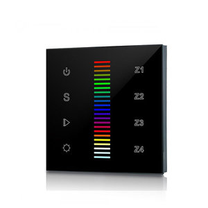 LED Full Touch RF&Wifi RGBW Controller 230V, Wand, Zwart, Pro