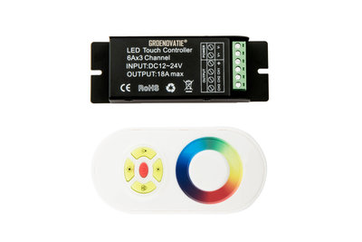 LED Strip RGB Controller Incl. RF Touch Afstandsbediening