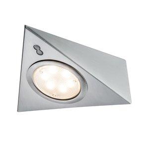 Paulmann LED Meubelverlichting Met Sensor 3W, Geborsteld Staal, Warm Wit, 3-Pack