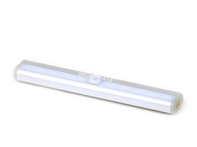 LED Kastverlichting 1W op Batterijen met Sensor, Onderbouw, Koel Wit