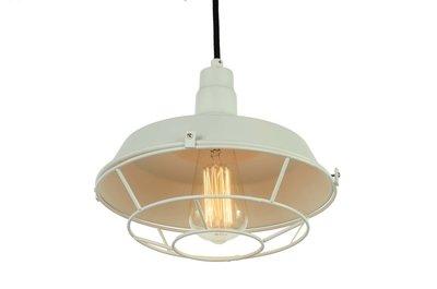Industriële Kooi Design Hanglamp Wit
