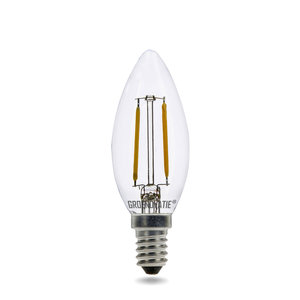 E14 LED Filament Kaarslamp 2W Warm Wit Dimbaar