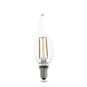 E14 LED Filament Kaarslamp Tip 2W Warm Wit Dimbaar