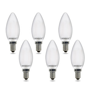 E14 LED Filament Kaarslamp 2W Warm Wit Dimbaar Mat 6-Pack