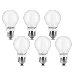 E27 LED Filament Lamp 4W Warm Wit Dimbaar Mat 6-Pack