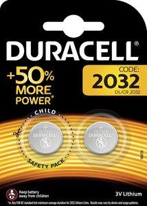 Duracell Knoopcel Batterij, 2032, Niet Oplaadbaar, 2 Stuks