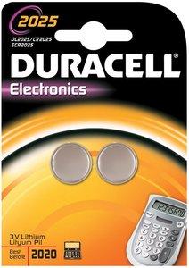 Duracell Knoopcel Batterij, 2025, Niet Oplaadbaar, 2 Stuks