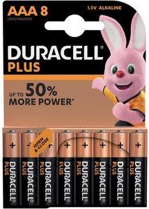 Duracell Plus Power AAA Batterij, LR03, Niet Oplaadbaar, 8 Stuks