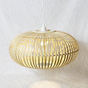 Bamboe Hanglamp, Handgemaakt, Naturel, ⌀50 cm