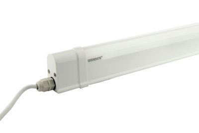 LED TL T5 Geintegreerd Armatuur, 6W, 40 cm, Warm Wit, Waterdicht