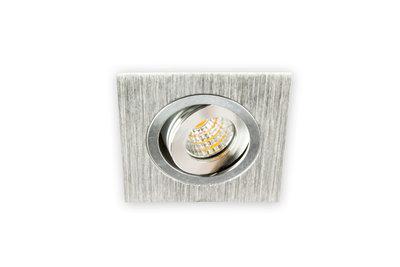 Inbouwspot LED 3W, Vierkant, Kantelbaar, Aluminium, Dimbaar