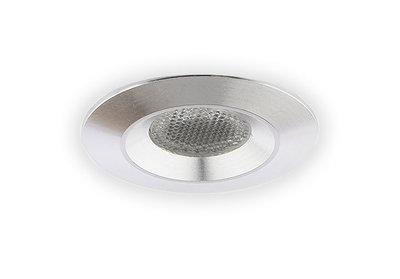 Inbouwspot LED 3W, Warm Wit, Rond, Waterdicht IP54, Aluminium, Dimbaar