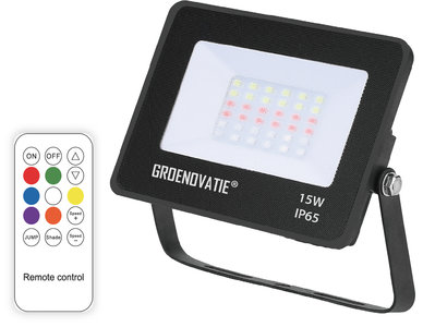 LED Breedstraler 15W Waterdicht IP65 RGB