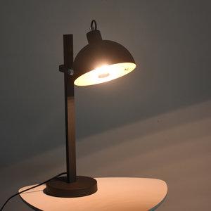 Arras Industriele Design Tafellamp Zwart Goud
