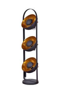Nice Industrieel Design Triple Vloerlamp Goud Zwart