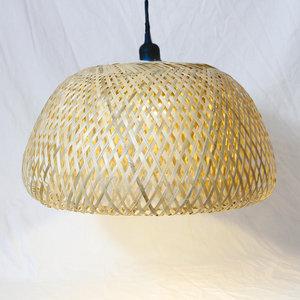 Bamboe Hanglamp, Handgemaakt, Naturel, ⌀45 cm