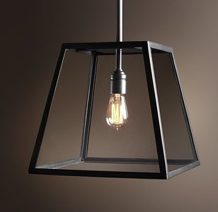 Boston Filament Vintage Industriele Hanglamp Glas Zwart