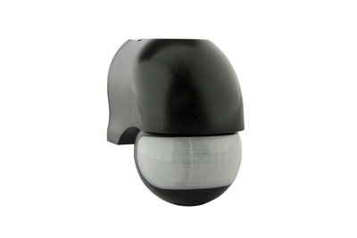 LED Bewegingsmelder/Sensor Opbouw, Kantelbaar, Waterdicht IP54, Zwart