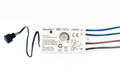 Klemko LED IBE-12/LI Schemerschakelaar Inbouw Waterdicht IP55