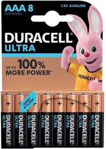 Duracell Ultra Power AAA Batterij, LR03, Niet Oplaadbaar, 8 Stuks