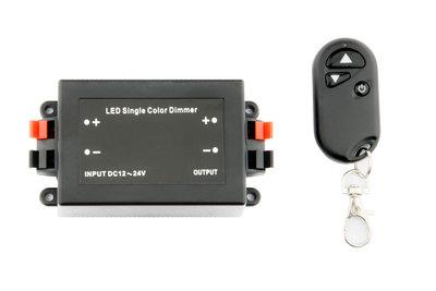 LED Dimmer 12-24V Incl. RF Afstandsbediening