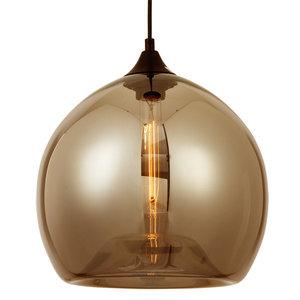 Amber Glazen Design Hanglamp, ⌀30x27cm, Zwart