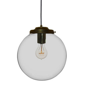 Metz Smoke Glazen Design Hanglamp, ⌀30x32cm, Zwart