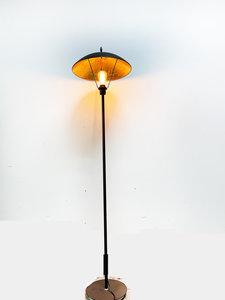 Nantes Industrieel Design Vloerlamp Goud Zwart