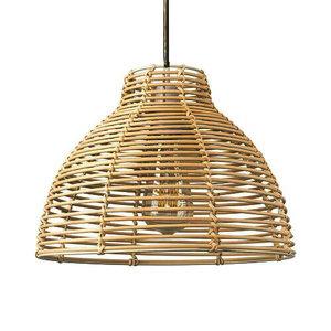 Rotan / Rieten Hanglamp, Handgemaakt, Naturel, ⌀30 cm