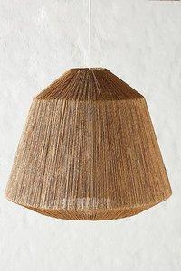 Jute Touw Hanglamp, Handgemaakt, Naturel, ⌀41 cm