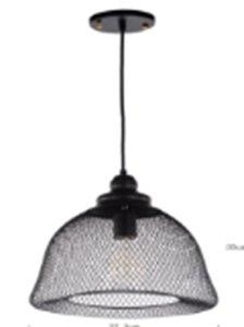Gaaslamp Industrieel Design Hanglamp, E27 Fitting, ⌀32x35cm, Zwart