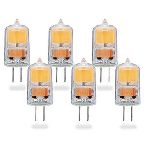 G4 LED Lamp 2W COB Warm Wit Dimbaar 6-Pack